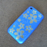 Carcasa iPhone 3G 3GS - editie limitata - BLUE FLOWERS