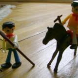 Set colectie lot 2 Figurine indieni cal stil Playmobil figurina western
