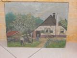 VECHI SI INEDIT TABLOU PICTAT PE O PANZA MAI VECHE