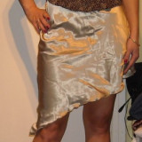 Costum de ocazie - Costum dama, Costum cu fusta, Argintiu