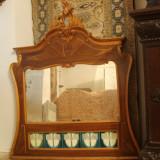 Oglinda veche sculptata manual, antica, rococo - Mobilier