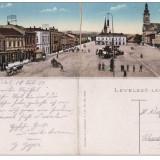 Sighet ( Maramures) -Piata - cp dubla - Carte Postala Romania pana la 1904, Circulata, Printata