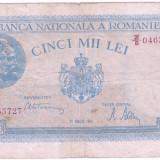 Romania bancnota 5000 LEI 21 august 1945