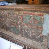 Mobilier - Lada de zestre saseasca pictata si datata 1822-originala
