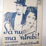 Partitura: -  SA  NU MA  `NTREBI - romanta - muzica:Elly Roman, versuri: Radu D. Rosetti