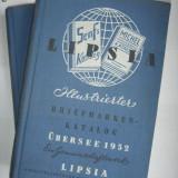 2 CARTI/CATALOAGE FILATELIE-TIMBRE SI MARCI POSTALE-LIPSIA1952