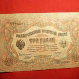 Bancnota 3 Ruble 1905 Rusia, cal.Buna