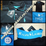 TRICOU GEN firma POLO by RALPH LAUREN COPII 4 5 6 ANI NEGRU TURCOAZ BUMBAC 100%