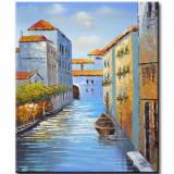 Tablou 60x50cm ulei pe panza - Canal venetian (2)