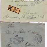 Plic Papetarie - PLIC 2TIMBRATE ; 1 PT ARAD 1957 HEGEDUS Z, SI 1 DR ZSTURA BUZIAS 1933-OCPP 125