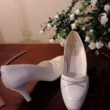 Pantofi dama, Marime: 35.5, Alb - Pantofi albi mireasa