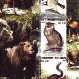 Timbre straine - BLOC TIMBRE PASARI SI ANIMALE MAURITANIA 2003