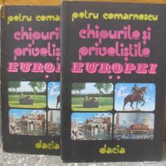 Carte hobby - Petru Comarnescu - Chipurile si privelistile Europei 2 volume