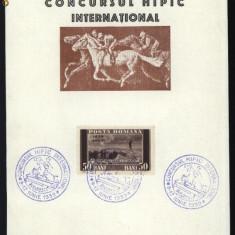 Suvenir postal, Concursul hipic international, Bucuresti, 1939