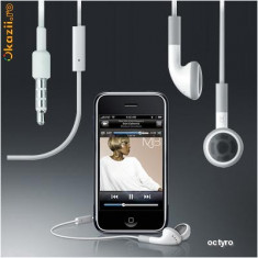 HANDSFREE iPHONE - CASTI iPHONE 4 3GS 3G - NOU! MERG SI LA 2G