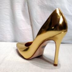 Pantofi piele, auri - Buffalo (6866-301 MIROR GOLD) - Pantof dama Buffalo, Marime: 39, Culoare: Auriu, Piele naturala