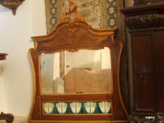 Mobilier - Oglinda veche sculptata manual, antica, rococo