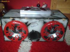 Subwoofer auto - Tub de bas +amplificator