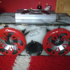 Subwoofer auto - Tub de bas +amplificator