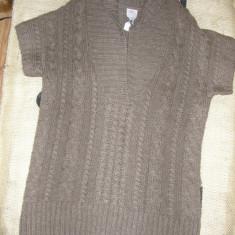 SUPER PRET ! Pulover lung tricotat gros S ' Oliver nou, superb marime M/L ! - Rochie tricotate, Culoare: Coffee, Midi, Scurta, Acril