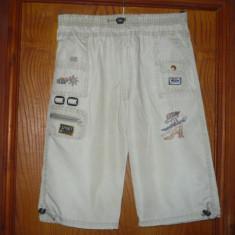 Pantaloni baieti, de vara, trei-sferturi, crem/bej deschis, NOI