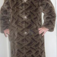 Palton / haina blana, 42 - 44 - Palton dama, Coffee