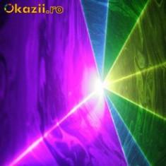 Laser lumini club - Laser RGB, rosu, verde, albastru 300mW rgb, Laser cu 7 culori, DMX, pentru club, discoteca, dj, pub, lumini disco, full color, laser dj, show laser