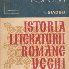 Studiu literar - Istoria literaturii romane vechi - I.Siadbei