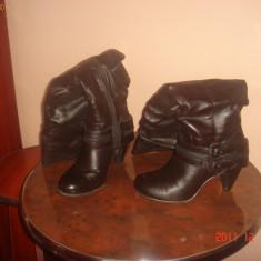 Cizme peste genunchi, maro - Cizme dama, Marime: 36.5, Coffee