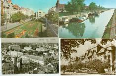 Carti Postale Romania dupa 1918, Circulata, Fotografie - TIMISOARA 4 RPR 1 INTREG POSTAL-CIRCULATE LOT-8 CARTE POSTALA VEDERE