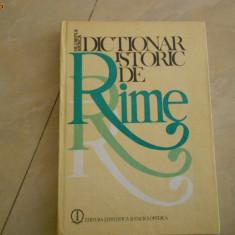 Carte de aventura - OLIMPIA BERCA--DICTIONAR ISTORIC DE RIME-1983 CU AUTOGRAF
