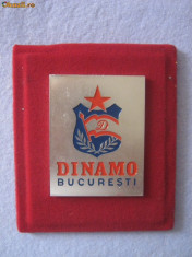 Dinamo Bucuresti Placheta Rara Emblema Perioada Comunista Fotbal