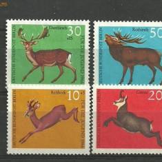 Germania 1967 - ANIMALE SALBATICE CERBI, serie nestampilata C57 - Timbre straine, Europa, Natura