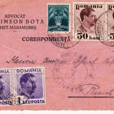 CARTE POSTALA DR, AVOCAT SIMEON BOTA SIGHET/MARAMURES-CORESPONDENTA 1935-OCPP 5 - Plic Papetarie