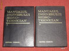 Carti Constructii - Manualul inginerului Hidrotehnician (2 vol.) - Coordonatori: Dumitru Dumitrescu, Radu A. Pop
