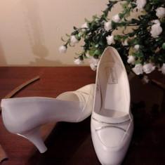 Pantofi albi mireasa - Pantofi dama, Marime: 35.5