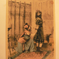 LITOGRAFIE - SAMSON SI DALILA - INCERCAREA - EDITURA FORTUNA BUCURESCI