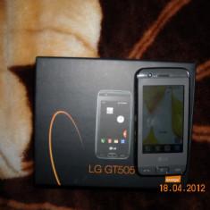 Vand Lg GT505 impecabil - Telefon LG, Negru, 2 GB, Smartphone, Touchscreen, 3.2 MP