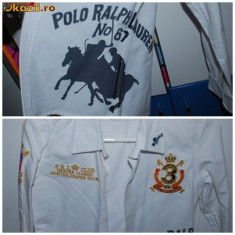 Camasa Polo Ralph Lauren - Camasa dama Nordstrom, Maneca lunga, Universala, Alb, Bumbac
