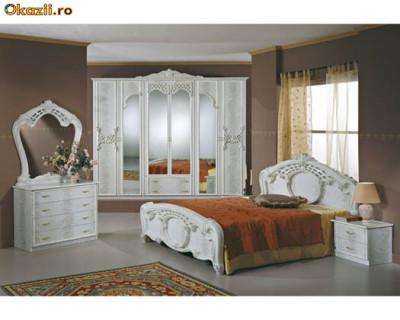 Mobila dormitor Italia lacuita si lucioasa foto