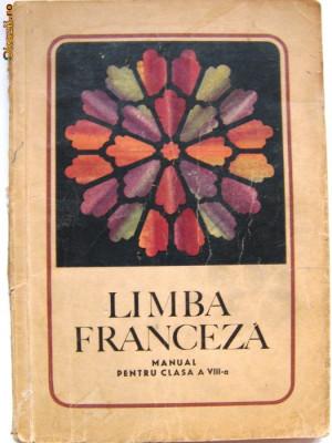 LIMBA FRANCEZA - MANUAL PENTRU CLASA A 8 A- MARCEL SARAS, VIORICA DEMETRESCU, 1968 foto