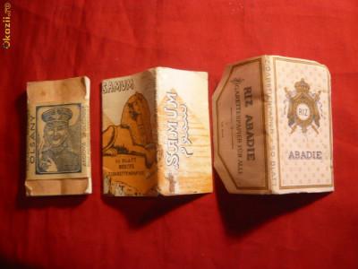 Lot 3 pachete Foite Tigari -Cehoslovacia si Austria - vechi foto
