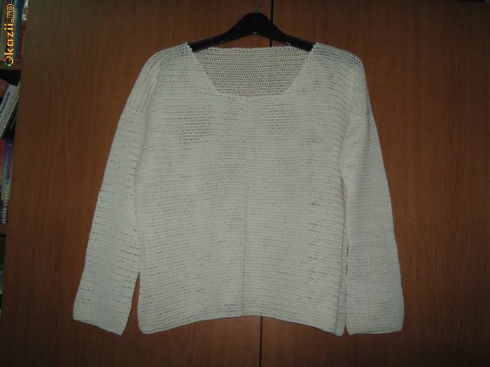 Bluza din macrame, crosetata manual, deosebita foto mare