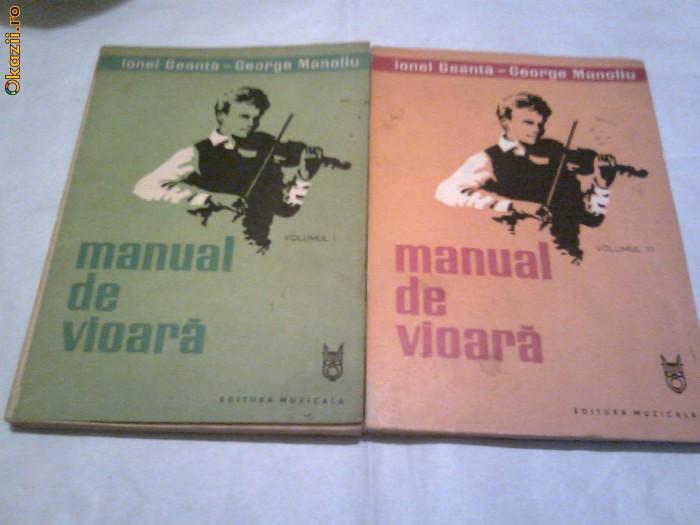 Ionel Geanta \ George Manoliu - Manual de vioara   vol.1 si 3 foto mare