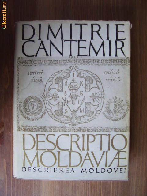 Dimitrie Cantemir - Descriptio Moldaviae foto mare