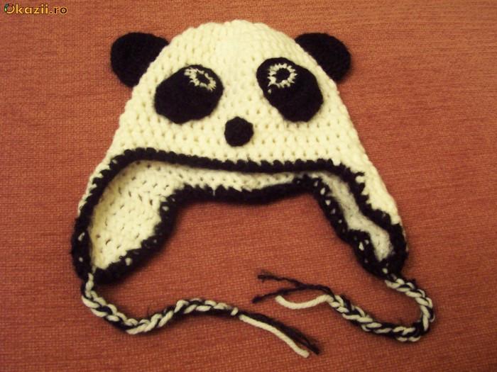"""Caciula cu urechi """"Ursuletul Panda"""" foto mare"""