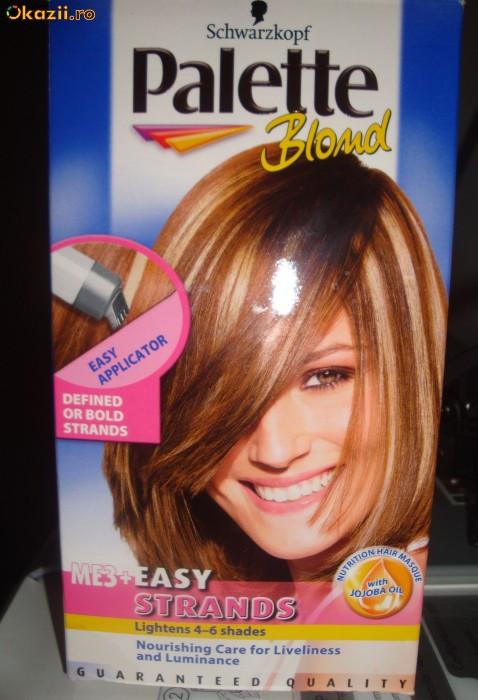 Vopsea de par vopsea palette blond pentru suvite cu for Combien de parpaing par palette