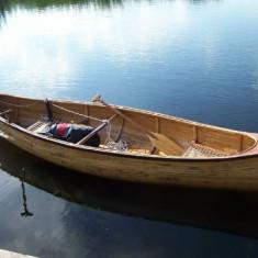 CANOE DIN LEMN DE STEJAR CU MAHON 2008 - Caiac Canoe