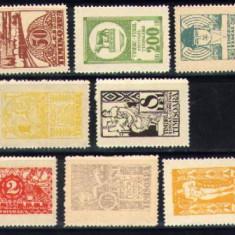 RFL Romania lot 8 timbre fiscale locale diferite Timisoara 1920 neuzate CV 200$ - Timbre Romania, Nestampilat