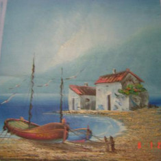 Tablou pictori romani - Ulei pe panza superb pictat semnat Prus